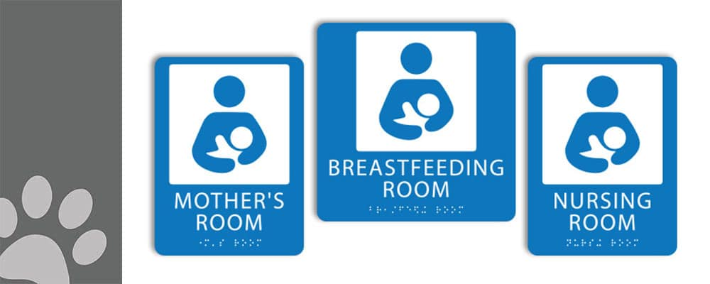 ca update lactation room requirements featured image 1000px 400px : alpha dog ada signs