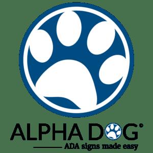 Paw Print_Logo Under 1500×1500 1 : alpha dog ada signs