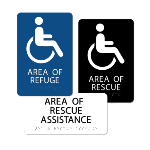 Area of Refuge / Rescue Signs