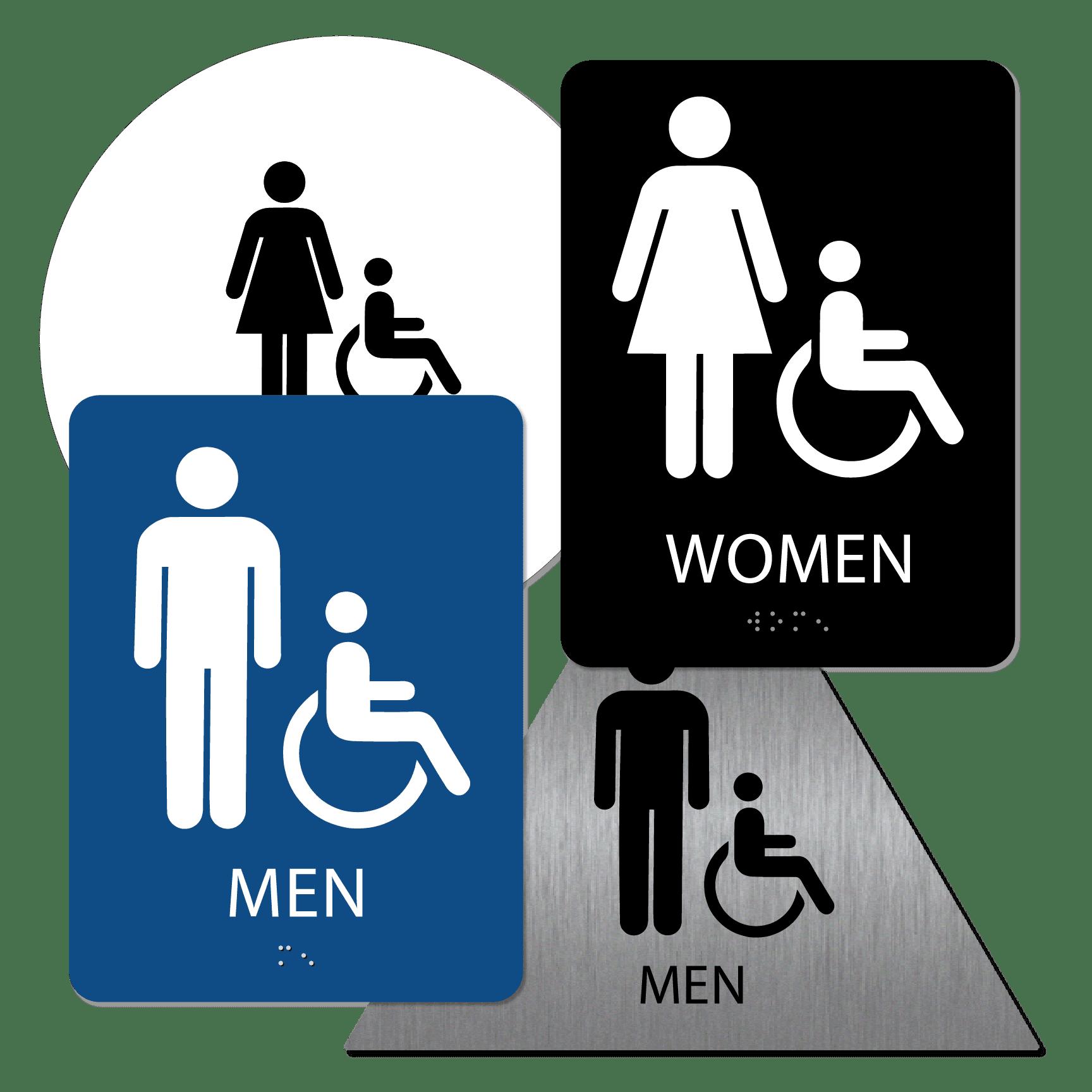 Bathroom 01 : alpha dog ada signs