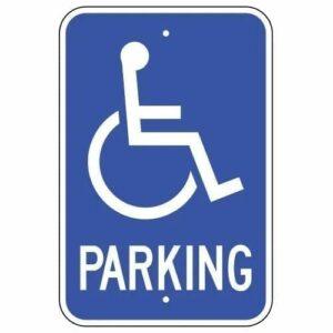 Handicap Symbol Parking Sign : alpha dog ada signs