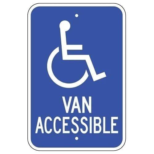 Handicap Symbol Van Accessible Parking Sign : alpha dog ada signs