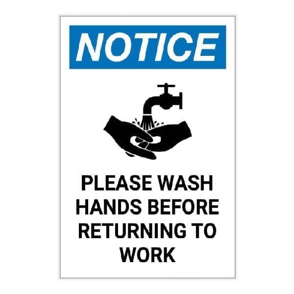 Please Wash Hands Safety Sign : alpha dog ada signs