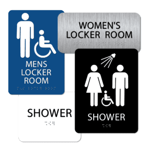 Shower / Locker Room Signs