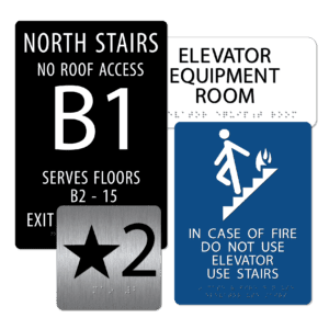 Stairwell / Elevator Signs