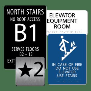 Stairwell / Elevator Signs