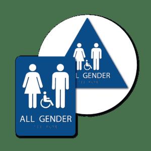 All Gender Bathroom Signs