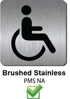 ada braille brushed stainless 2 : alpha dog ada signs