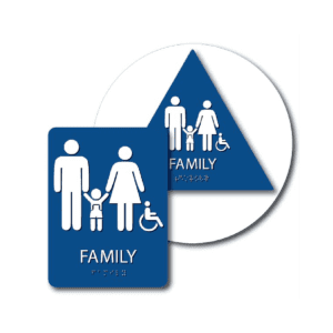 Family Bathroom Signs