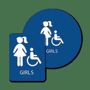 Girl's Bathroom Signs