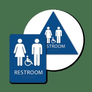 Unisex Bathroom Signs