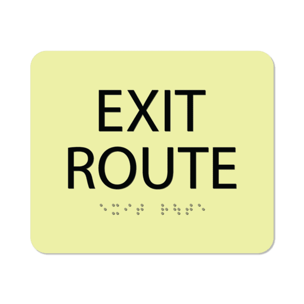photoluminescent braille exit route signs er56 lg : alpha dog ada signs