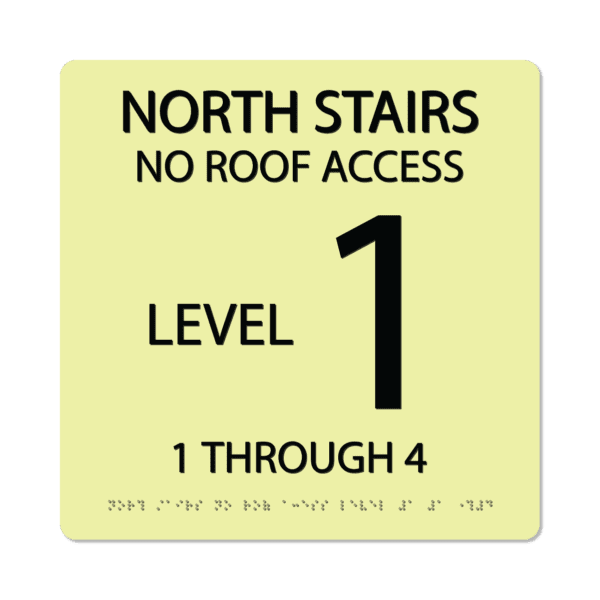 photoluminescent braille stairwell signs ss1212 lg 01 : alpha dog ada signs