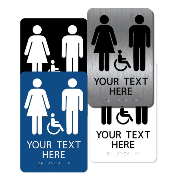 collage unisex handicap restroom signs cui96 : alpha dog ada signs