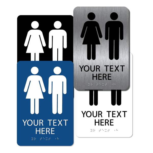 collage unisex restroom signs cu96 : alpha dog ada signs