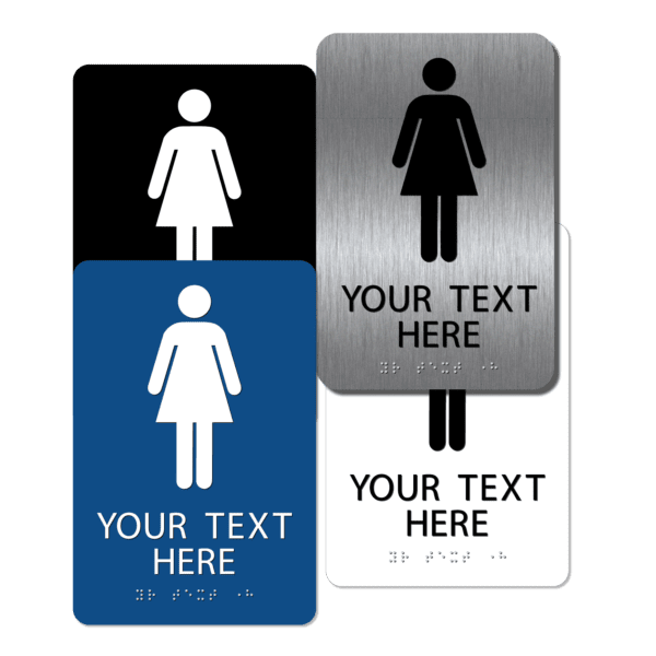 collage womens restroom signs cw96 : alpha dog ada signs