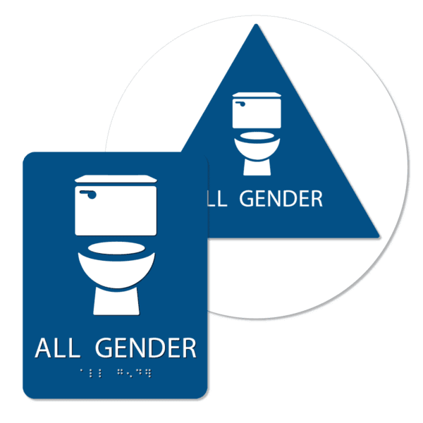 all gender bathroom sign bundle blue agt bun : alpha dog ada signs