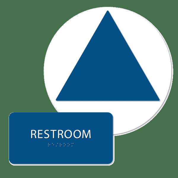 unisex blank bathroom sign bundle blue rblank bun : alpha dog ada signs