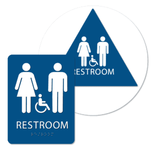 unisex handicap bathroom sign bundle blue ri bun : alpha dog ada signs