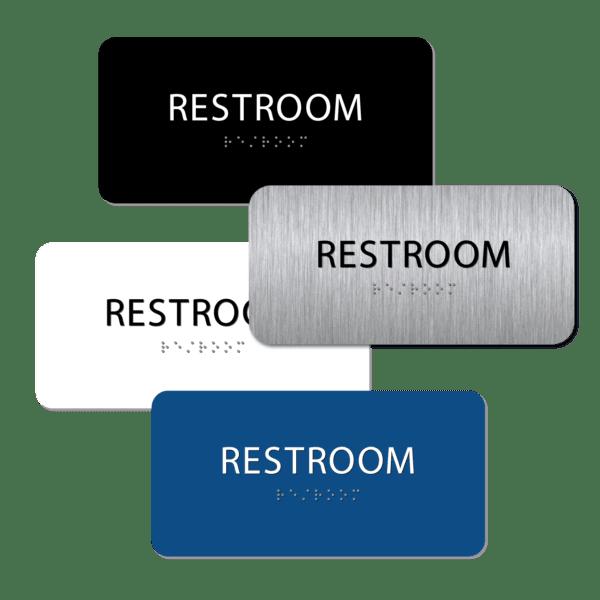 unisex bathroom sign collage r48 : alpha dog ada signs
