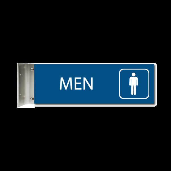 engraved mens restroom corridor sign blue cs412 m : alpha dog ada signs