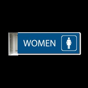 engraved womens restroom corridor sign blue cs412 w : alpha dog ada signs